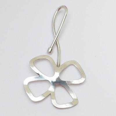 Pendentif argent fleur quatre pétales
