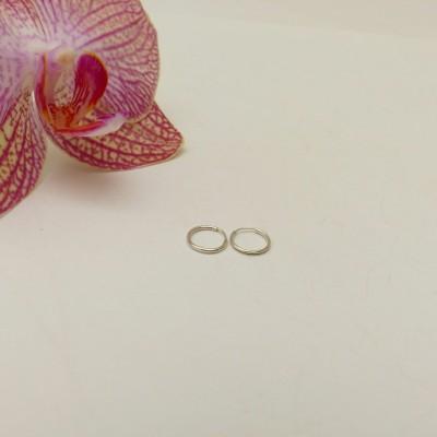 Créoles argent très petites pour piercing