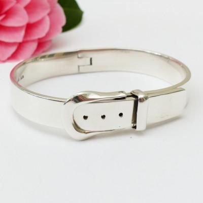 Bracelet en argent ceinture avec boucle