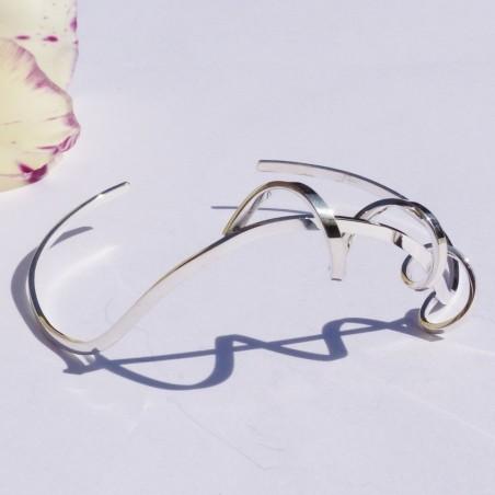 Bracelet en argent tourbillon