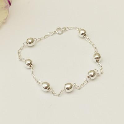 Bracelet en argent chaînette et boules