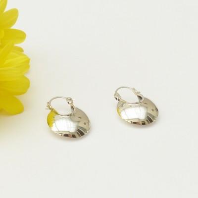 Boucles d'oreilles en argent lune bombée ouverte
