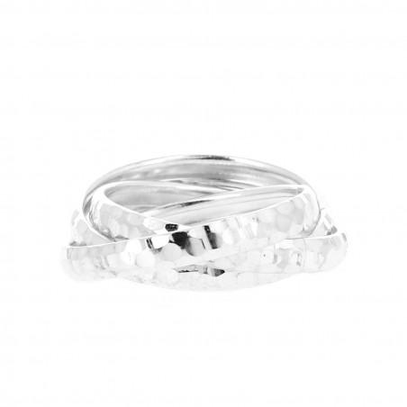 bague en argent trois anneaux petits carr s. Black Bedroom Furniture Sets. Home Design Ideas