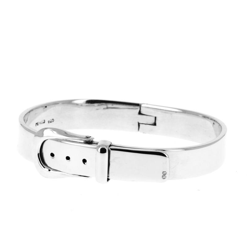 70f67dab87e7 Bracelet en argent ceinture avec boucle