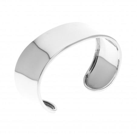 Bracelet Lisse Simple Tout Argent Manchette 7Ybyf6g
