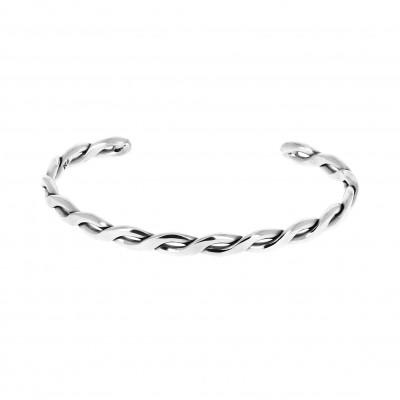 Bracelet argent fin torsadé