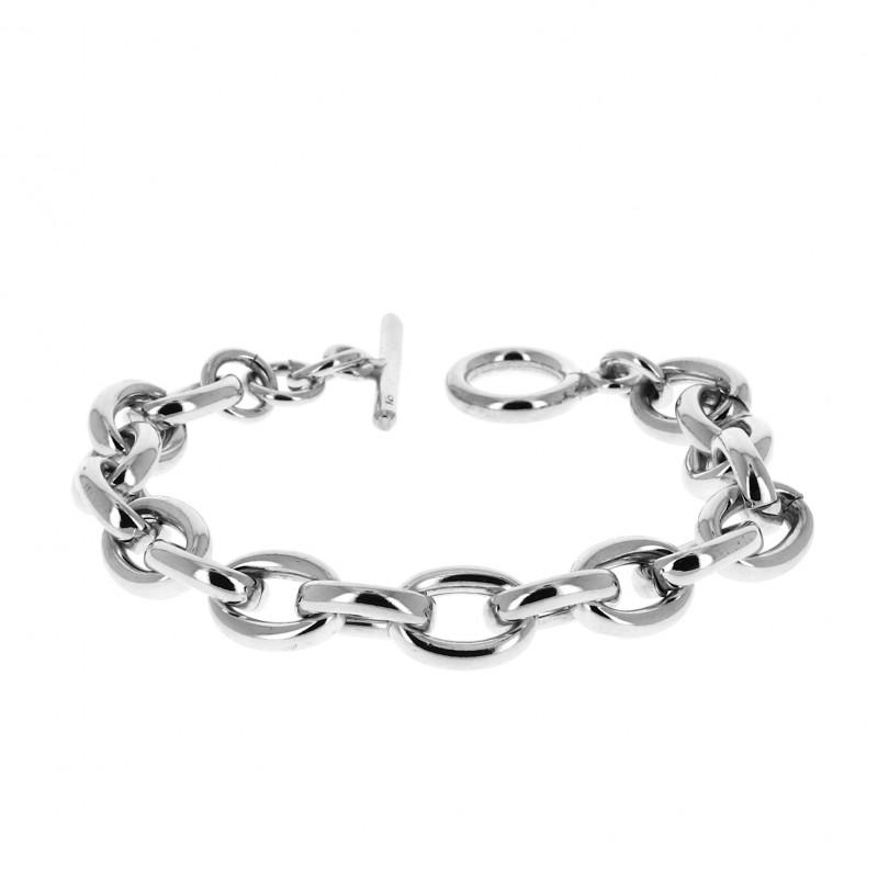 bracelet argent femme grosse maille