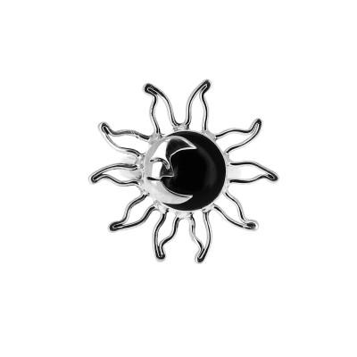 Bague soleil onyx noir