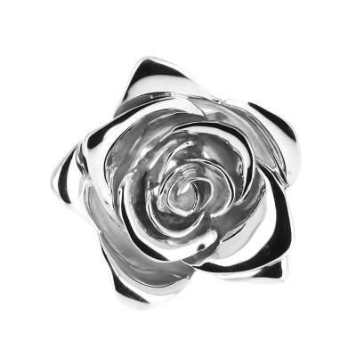Bague en argent grande rose...