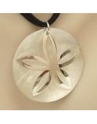 Bijoux argent avec des fleurs